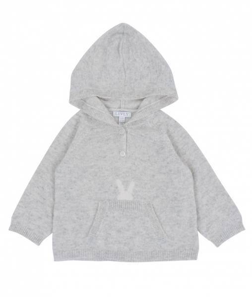 LIVLY Chasmere Hooded Sweater - Grey
